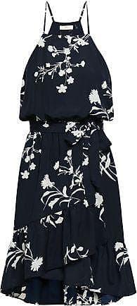 Joie Joie Woman Floral-print Crepe De Chine Dress Midnight Blue Size XS