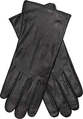 EEM Damen Leder Handschuhe MALIKA aus Lammnappaleder elegant warm modisch sichtbare Stulpe aus Wolle