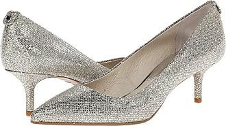 e6b14cf988ba Michael Kors MK Flex Kitten Pump (Silver Glitter Mirror Metallic) High Heels