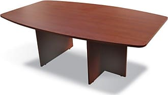 Unique Furniture 100 Collection Boat Shaped Meeting Table Espresso - A-18448-ESP