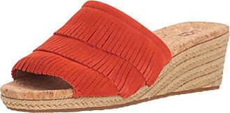 UGG Womens Kendra Wedge Sandal, red/Orange, 10 M US