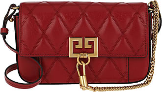 Givenchy Mini Pocket Bag Diamond Quilted Leather Vermillon Umhängetasche rot