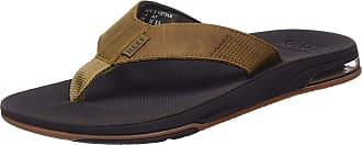 Reef Mens Leather Fanning Low Flip Flops, Brown (Brown Bro), 10 UK