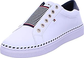Tommy Hilfiger metallic flatform sneaker, scarpe da ginnastica basse donna, bianco (white ybs), 36 eu
