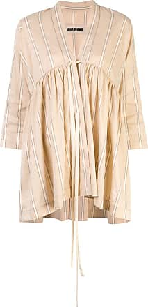Uma Wang striped blouse - Brown