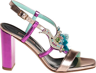 Albano sandalo tacco alto con accessorio, 36 / fuxia