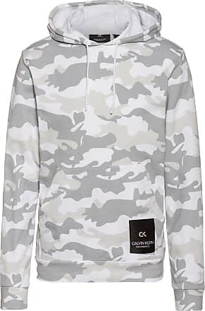 Calvin Klein Hoodie Herren in bright white camo, Größe S