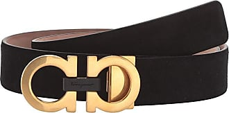 Salvatore Ferragamo Adjustable Belt - 67A035 (Black) Mens Belts
