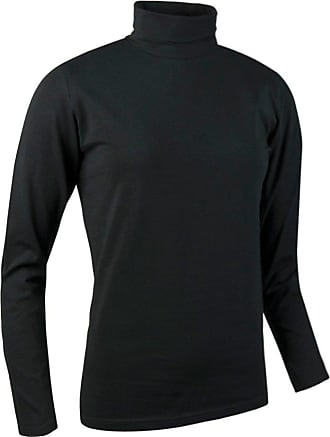 Glenmuir Ladies LSC2211 Hayley Shaped Fit Long Sleeve Cotton Golf Shirt (L - UK Size 14/16, Black)
