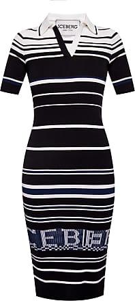Iceberg Dress With Logo Womens Black