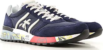 Premiata Sneaker Uomo, Blue Ink, Pelle Scamosciata, 2019, 40 41 42 43 44 45 46