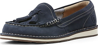 Ariat Womens Tassel Cruiser Casual Shoe in Navy Leather, B Medium Width, Size 3.5, by Ariat