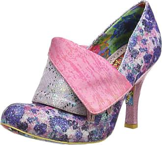 Irregular Choice Womens Flick Flack Closed Toe Heels, Purple (Purple/Flora Dn), 7.5 (41 EU)
