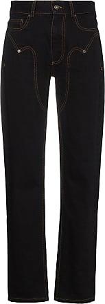 Y / Project Calça jeans com cintura alta - Preto