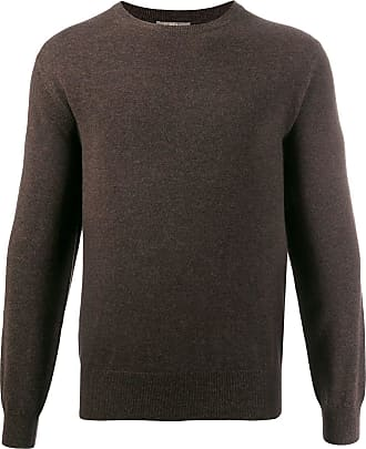 N.Peal The Oxford round neck sweater - Brown