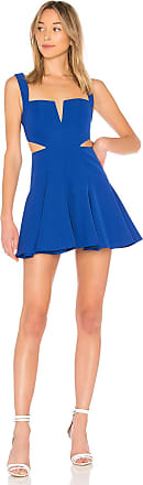 Superdown Wendy Fit & Flare Dress in Blue