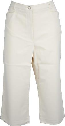 Quelle Cream Stretch Cotton Crop Trousers Size 20