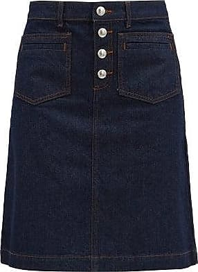 A.P.C. Michelle Denim Mini Skirt - Womens - Denim