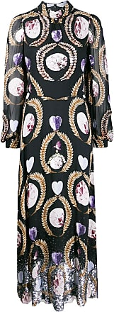 Temperley London crystal print dress - Black