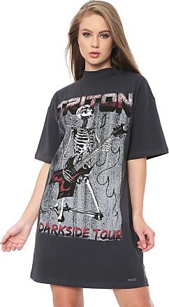 Triton Vestido Triton Curto Skull Grafite
