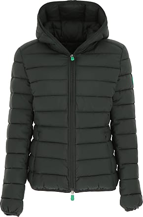 Save The Duck Jacket for Women On Sale, Dark Green, polyester, 2017, 3 (L - 44/46)