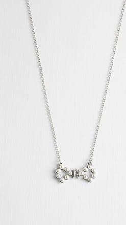 Ted Baker Swarovski Medium Pearl Bow Pendant in Silver Colour PELSINA, Womens Accessories