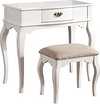 ACME ACME Maren White Vanity Desk and Stool