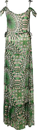 Amir Slama printed silk maxi dress - Green