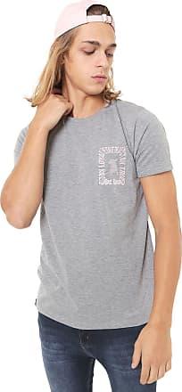 Doc Dog Camiseta Doc Dog Manga Curta Estampada Cinza