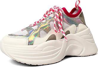 Damannu Shoes Tênis Eloise Holográfico - Cor: Branco - Tamanho: 39