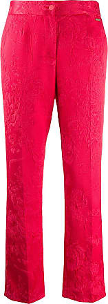 Blumarine Calça pantalona jacquard - Vermelho