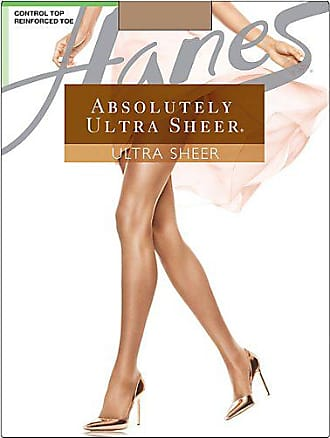 Hanes Absolutely Ultra Sheer Control Top Reinforced Toe Barely There C
