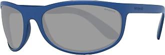 Polaroid Unisexs P7334 Y2 148 Sunglasses, Rubber Blue/Grey Grey, 63