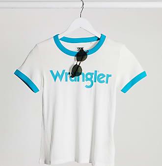 Wrangler T-shirt a maniche corte con bordi a contrasto bianco sporco