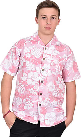 True Face Mens Hawaiian Shirt Funky Short Sleeve Printed Hawaii Top Fancy Ugly Shit Beach Holiday Party Casual Wear (Pink - Hawi, XXX-Large)