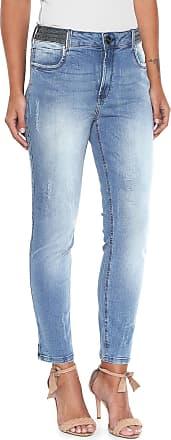 Lança Perfume Calça Jeans Lança Perfume Slim com Aplicação Azul