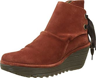 FLY London Womens Yama Ankle Boot, Brick Oil Suede, 41 M EU (10 US)