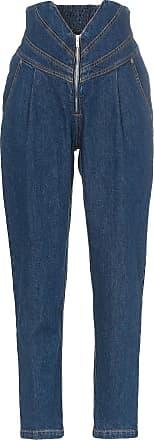 Attico V-waist tapered jeans - Blue