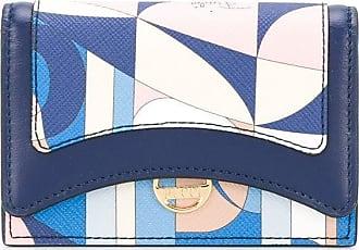 Emilio Pucci Porta-cartões com estampa abstrata - Azul