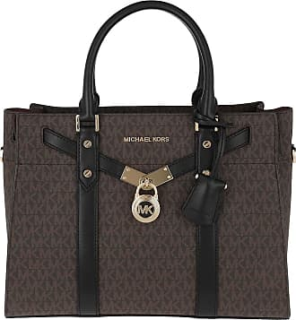 Michael Kors Tote - Nouveau Hamilton LG Satchel Brown/Black - brown - Tote for ladies