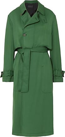 Haider Ackermann Belted Twill Trench Coat - Green