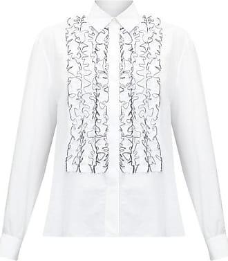 Alexandre Vauthier Ruffled Cotton-poplin Shirt - Womens - White