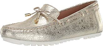 Geox Womens LEELYAN 6 Boat Shoe Loafer, Gold 38 Medium EU (8 US)