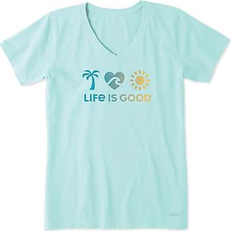 Life is Good Cool Tee Smiley Palms
