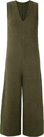 Osklen v-neck jumpsuit - Green