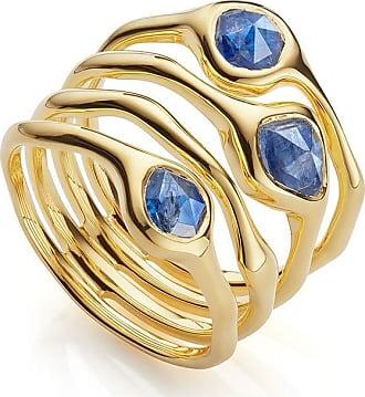 Monica Vinader Siren Cluster Cocktail Kyanite ring - GOLD