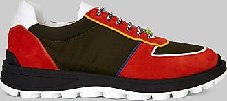 Etro Leather And Fabric Sneakers, Man, Red, Size 39