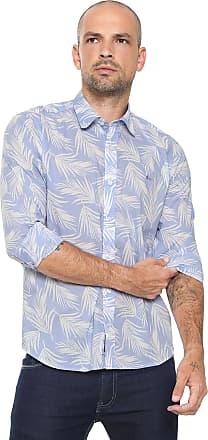 Aramis Camisa Aramis Slim Estampada Azul 49654e18bca7c
