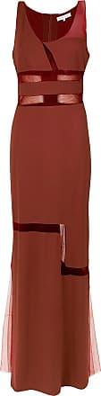 Gloria Coelho Vestido longo com recortes - Vermelho
