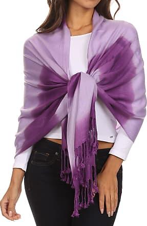 Sakkas CHS156 - Vicki Trendy Ombre Stripe Tie Dye Pashmina/Shawl/Wrap/Stole - Purple - OS